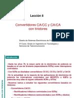 Convertidores CA- CC y CA-CA con tiristores