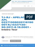 TJ-RJ - APELACAO  APL 02271309020118190001 RJ 0227130-90.2011.8.19.0001