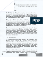Bases Convocatoria Parlamento Juvenil