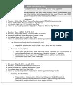 CS Form No. 212 Attachment - Work Experience Sheet