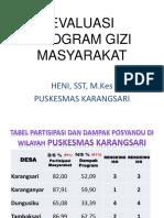 Evaluasi Program Gizi Masyarakat 2017
