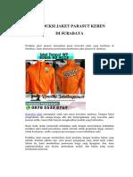 Produksi Jaket Parasut Keren Di Surabaya