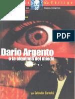 Dario Argento o La Alquimia Del Miedo