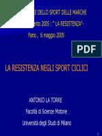 La Resistenza Negli Sport Ciclici