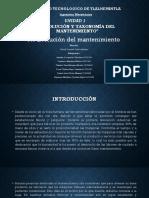 1.1 Evolución Del Mantenimiento - UNIDAD I