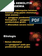 Anemia Hemolitik Thalassemia