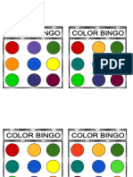 Color Bingo Cards and Worksheet