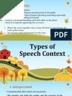 Lesson 5 - Speech Context & Speech Styles