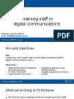 Digital Training Masterclass, IWMW 2018