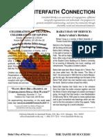 November 2009 Interfaith Connection Newsletter, Interfaith Works