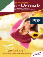 Yoga Urlaub Bad Meinberg