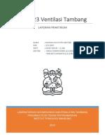 188420616 Laporan Praktikum Ventilasi Tambang