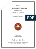 ESIC BRANCH OFFICE MANUAL