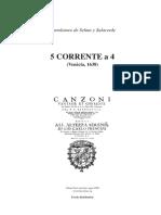 5 Corrente a 4 Venecia 1638 Selma y Salaverde, Bartolomeo de Bajo Continuo 8 Páginas