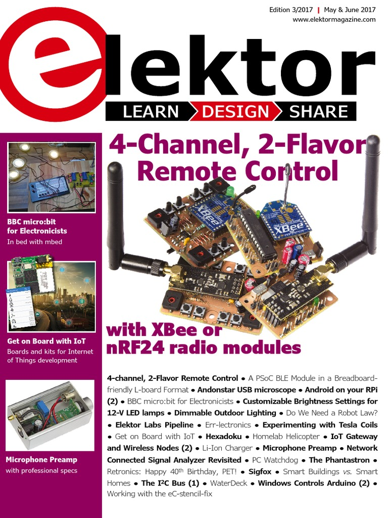 03  Elektor USA - May, June 2017 | Internet Of Things | Usb