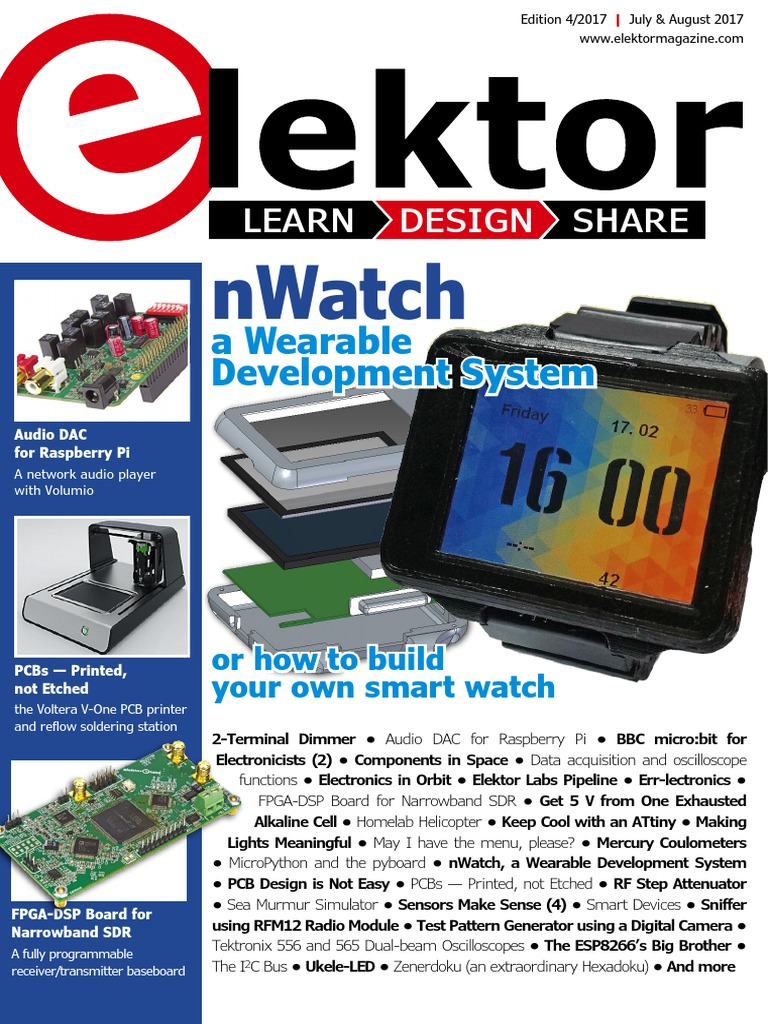 04 Elektor Usa July August 2017 Printed Circuit Board Home Panavise Large Holder Electronics