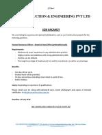 Job Advertisement - 210718
