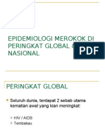 Epidemiologi dan kesan merokok