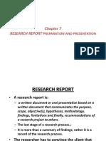 Chapter 10 Researeaech Report Preparation