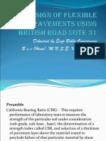 Design of Flexible Pavement Using British Road Note