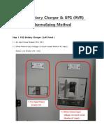 FGD Battery Charger & UPS (AVR) Normalizing Method