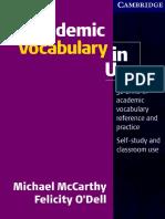 Cambridge - Academic Vocabulary in Use (1st Ed) (2008).pdf