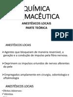 Quimica de Anestésicos-teoria