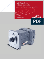 LINDE R-02 hydraulic motors for open and closed operation