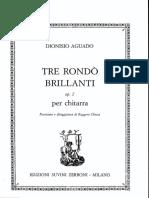 AGUADO, Dionisio - Tre Rondó Brillanti