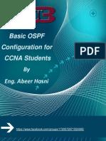 Basic OSPF Config