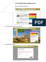 Online Admission Form Filling Instructions