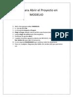 PasosParaAbrirELProyecto en MODELIO