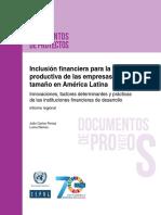 Inclusión Financiera Para La Inserción Productiva de Las Empresas de Menor Tamaño en América Latina