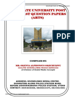 Abia State University Post UTME Past Questions and Answers Arts