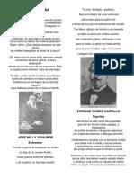 Poemas de Flavio Herrera, Jose Milla Vidaurre, Enrique Gomez Carrillo, Jose Batres Montufar