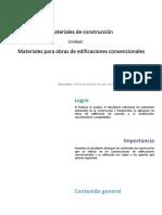 U4_Materiales Para Obras de Edificación Convencionales