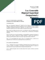 Ley General de Higiene, Seguridad Ocupacional y Bienestar (DL N 16998) - Laboral