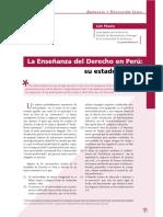 Luis Pásara-- Enseñanza Del Derecho