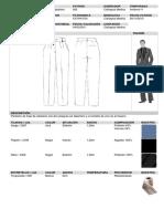 Ficha Tecnica Pantalon