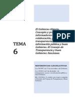 Tema 6 Elgobierno Abierto Transparencia