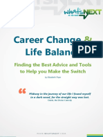 Career Change and Life Balance