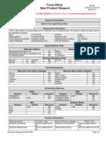NPC Request Form FRN - Plain Vanilla LBB EQ