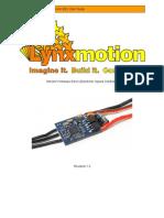 Lynxmotion Simonk Esc Guide