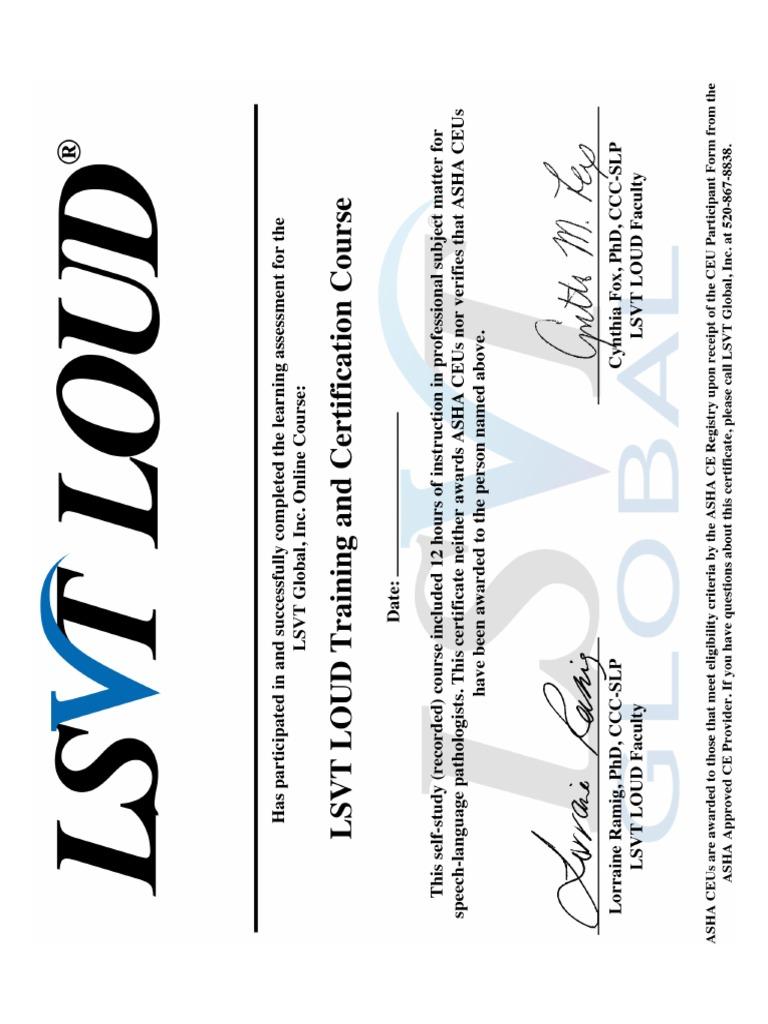 Lsvt Loud Certificate 112717