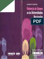 Violencia de Género en las Universidades Argentinas