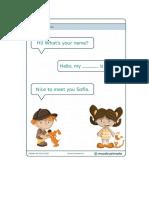 Saludos Para Niños en Ingles