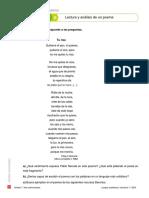 Lectura y Análisis de Un Poema