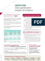 lettre Sport AGEFOS PME