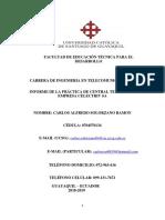 Informe Practicas Carlos Solorzano