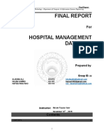 Hospital management system report